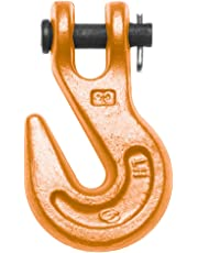 CAMPBELL 473-A Grade 70 Drop-Forged Alloy Steel Clevis Grab Hook, Painted Orange, 1/4-Inch Trade, 4100-Pound Working Load Limit