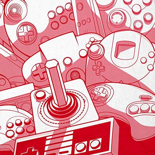 Retro Rojo Gamer Hormiga juegos Consola juego Video Hombre Gamepad de Madness Camiseta TqpPq0Og