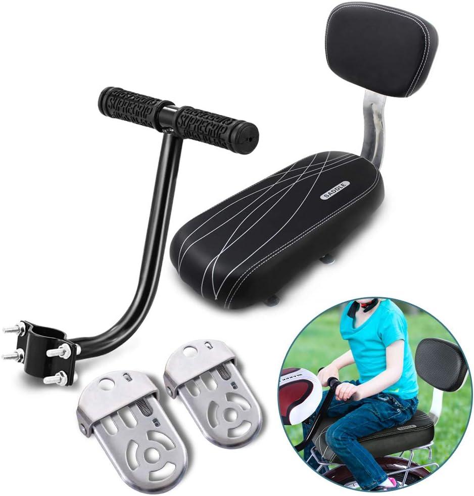 AUVSTAR Cojín para asiento trasero de bicicleta, asiento trasero de bicicleta de montaña, asiento trasero de bicicleta de montaña, asiento trasero de vehículo eléctrico, asiento trasero para niños, co