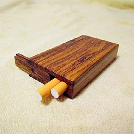NACHEN Caja de Cigarrillos de Madera Mini Caja de Cigarrillos portátil Retro 20 Palos Cigarrillos de Madera: Amazon.es: Hogar