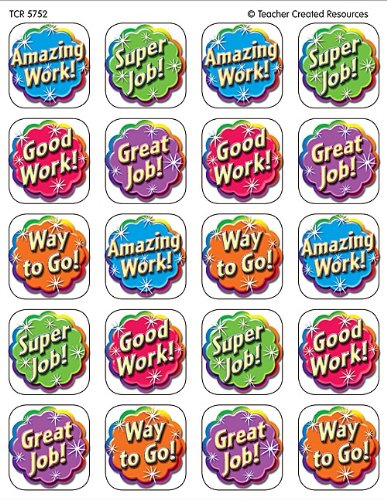 Teacher Created Resources Good Work Stickers, Multi Color (5752) -