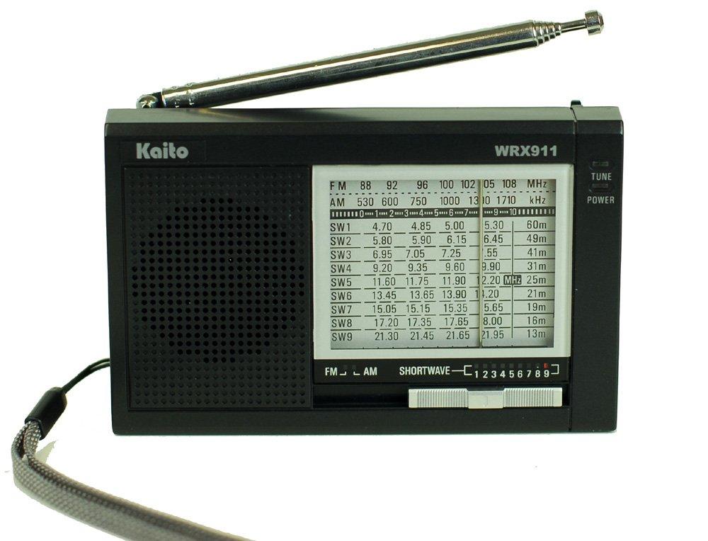 Kaito Electronics Inc. WRX911BLK Analog AM/FM/SW World Receiver - Black