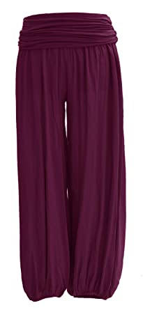 NEW LADIES ITALIAN FLORAL LAGENLOOK BOHO HAREM BAGGY COMFORTABLE TROUSERS