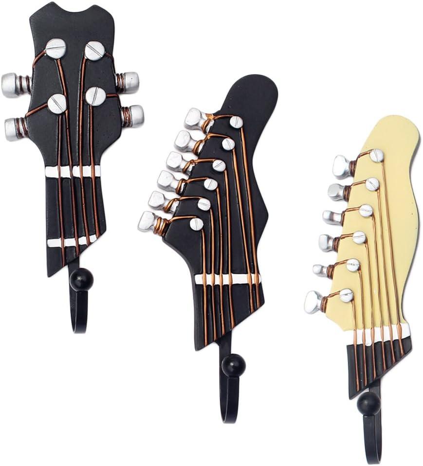 MagiDeal 3 Piezas Cabezas de Guitarra Música Resina Gancho de Ropa ...