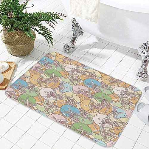 TecBillion Ultra-Soft Mat,Football,for Kitchen Living Room,23.62