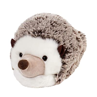 Amazon.com | Everberry Fuzzy Hedgehog Slippers - Plush Hedgehog Animal Slippers Brown and White | Slippers