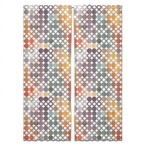 Happy Star Bingo Curtain: Wide and Extra Long, Lined Window Treatment Set of 2 Panels for Living Room Bed Room by uneekee