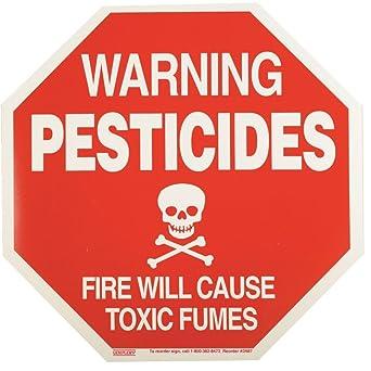 GEMPLER'S D987 Pesticide Warning Sign - Durable Weatherproof