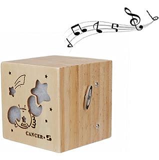 Sannysis caja de música con luces de colores LED - 12 Horóscopo (CÁNCER)