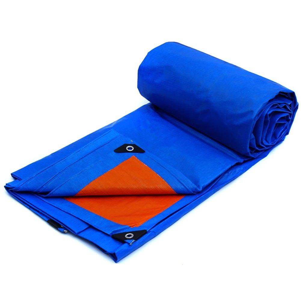 GUOWEI-pengbu ターポリン キャンバス リノリウム シェード 日焼け止め 防水 折りたたみ可能 プラスチック 屋外 2色展開 (色 : Blue, サイズ さいず : 11.8x7.7m) B07FZ3JCH6 11.8x7.7m|Blue Blue 11.8x7.7m