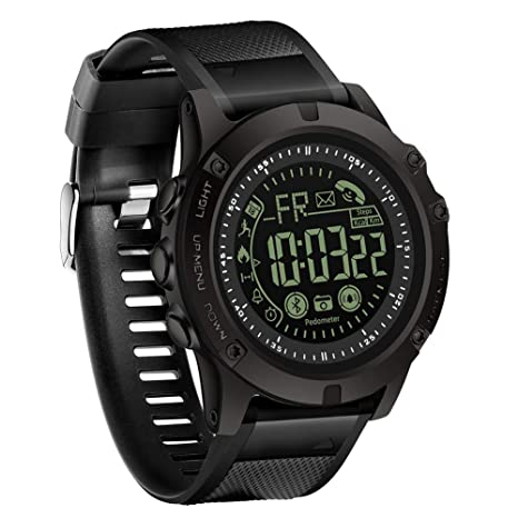 JINRU Impermeable SmartWatch para los Hombres/GPS de ...