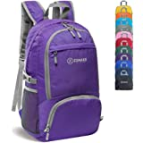 ZOMAKE 30L Lightweight Packable Backpack Water Resistant Hiking Daypack,Small Travel Backpack Foldable Camping Outdoor Bag Purple
