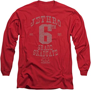 Beverly Hillbillies Jethro 6TH GRADE GRAD Licensed Long Sleeve T-Shirt S-3XL