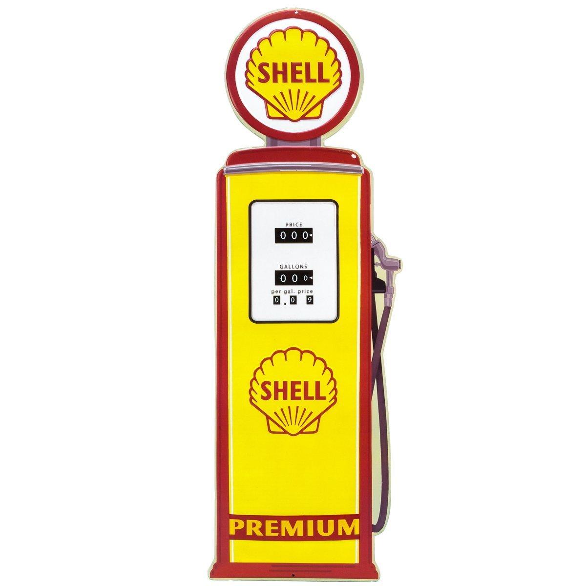 ダイカットメタルサイン 「ガスポンプ型 SHELL」 /シェル/ブリキ看板/アメリカン雑貨/ B01EVMTYTA