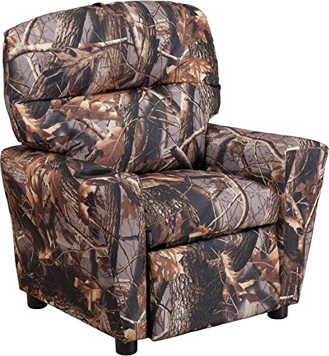 Winston Direct Kids' Series Contemporary Camouflaged Fabric Recliner with Cup Holder by Winston Direct