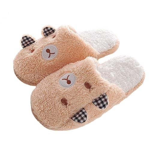 600846b028f WYSBAOSHU Winter Warm Men Women Indoor Shoe Couples House Slipper (XS