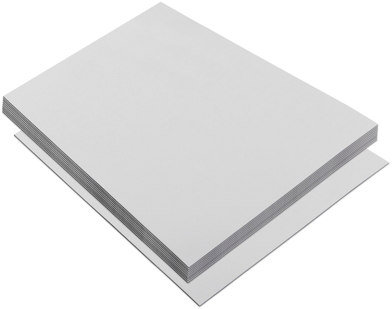Flexible Magnet Strip with White Vinyl Coating, 1/32'' Thick, 4'' Height, 200 Feet cut loose Every 6'', 398 - 4'' x 6'' pieces