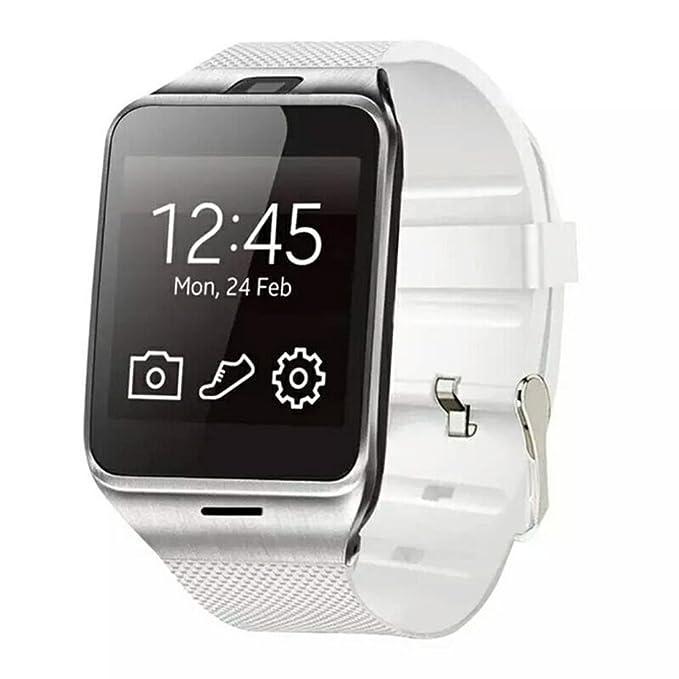 Reloj Inteligente,Xinan GV18 Relojs Bluetooth del Teléfono GSM NFC para Samsung iPhone (Blanco): Amazon.es: Electrónica