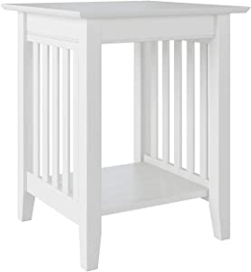 Atlantic Furniture Mission Printer Stand, White