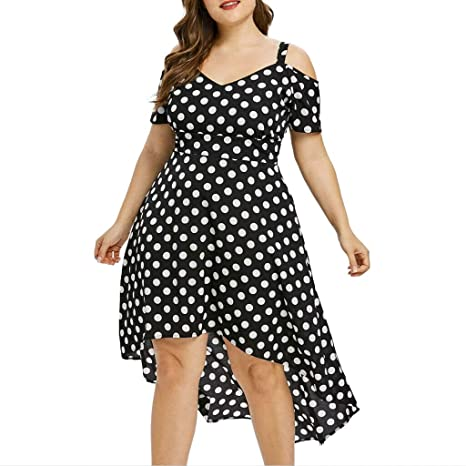 Vestido Mujer Verano 2019 Vestido Estampado De Lunares De Gasa De ...