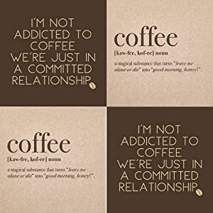 Coffee Napkins paper beverage napkin set Funny Coffee Theme Variety Pack 40 count
