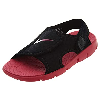 best loved d3309 11a75 Nike Sunray Adjust 4 Toddler Girls  Sandals Black Rush Pink 10C  Amazon.in   Shoes   Handbags