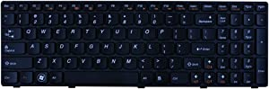 ACOMPATIBLE Replacement for Lenovo IdeaPad Z570 V570 B570 B570A B570G B575 V570C Series Laptop Keyboard Black Keys Black Frame