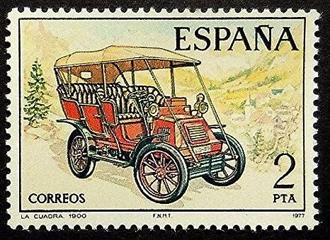 Passion Gift Stamp Art Vintage Car La Cuadra 1900 España - Sello Enmarcado 18611: Amazon.es: Hogar