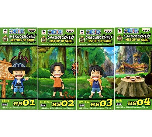One Piece World Collectable figures HISTORY OF SABO 4 species ( Sabo children Ace children Luffy children and stump )