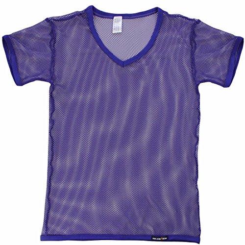 Corta Manga de Atractivo Chaleco para Camiseta Camiseta Chaleco Hombres M de Los XL Camisa Morado Malla iiniim Hombre Transparente FHwYnqIwX