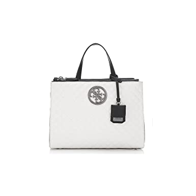 guess magasin, guess sac a bandouliere g lux blanc femme