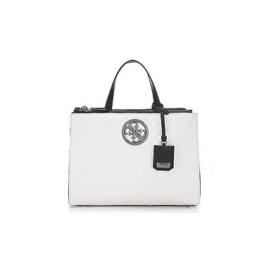 9b50e8d254 Guess - Coll: Sac à main G Lux effet Capitonne - Couleurs: Blanc:  Amazon.fr: Vêtements et accessoires