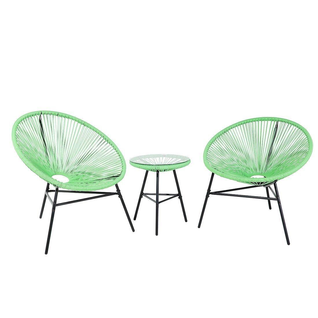 Juego de mesa y sillas para patio moderno de Mid Century de 3 ...