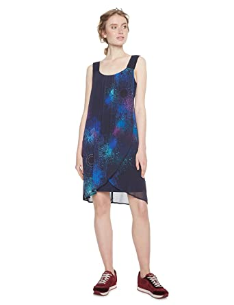Desigual Vest_Agnes, Robe Femme, (Navy 5000), 40 (Taille Fabricant: 38)