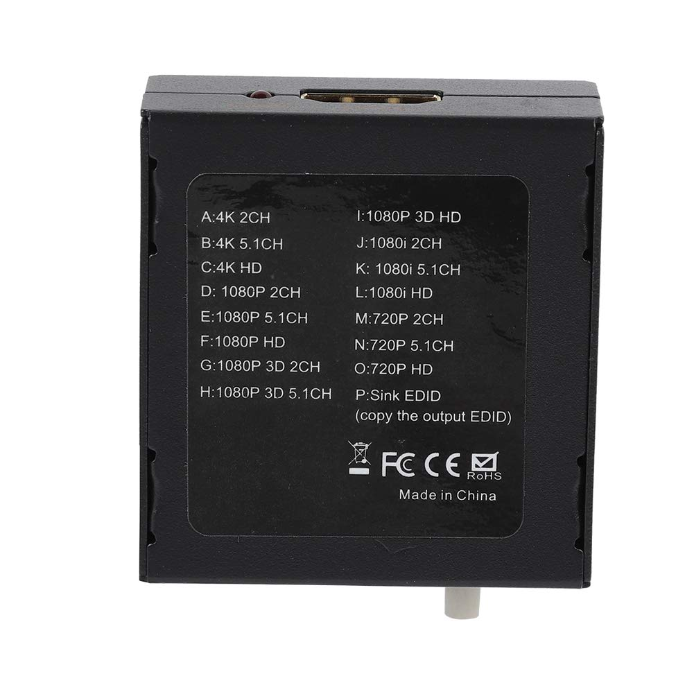 HDMI EDID Manager,HDMI EDID Feeader EDID Manager Emulator Support 4K CEC,16 Kinds of EDID Mode,Supports up to 4K Resolution,Support CEC,Back-end Display Device