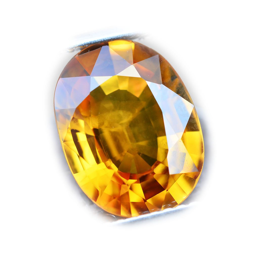 4.76ct Natural Oval Yellow Sapphire Thailand #B