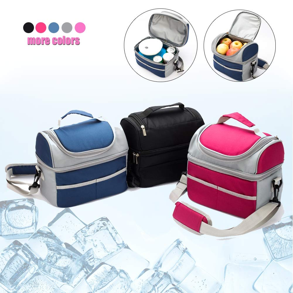Thermal Insulation Bag Baby Feeding Bottle Cooler Bags Lunch Box Baby Care Mother & Kids Travel Picnic Black 26X18X24cm
