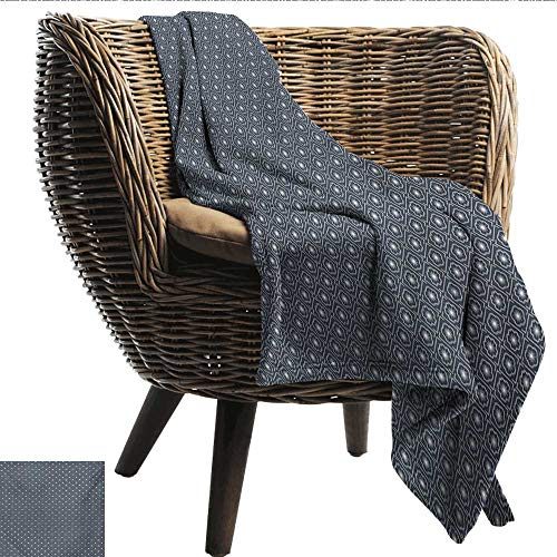 - Davishouse Japanese Decorative Throw Blanket Checked Like Diagonal Pattern with Spring Flowers Repetitive Ultra Soft and Warm Hypoallergenic 36