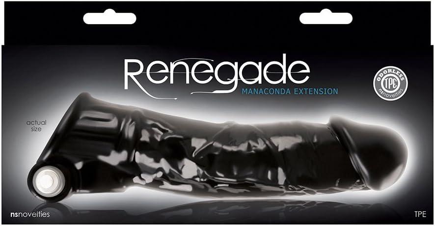 Renegade Manaconda Funda para Pene, Color Negro - 299 gr: NSNOVELTIES: Amazon.es: Salud y cuidado personal