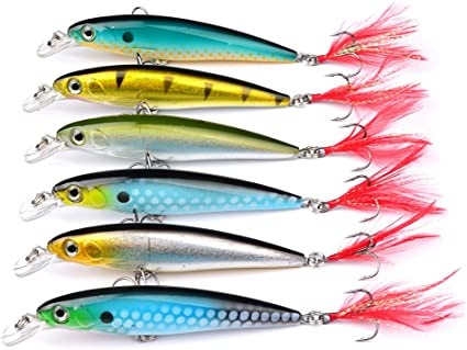 12 NEW Long Cast Assorted Spinner Bait Fishing Lure Lot lures hooks jig 0.5oz