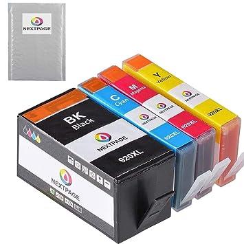 Amazon.com: NEXTPAGE Cartuchos de tinta para HP 920 X L High ...