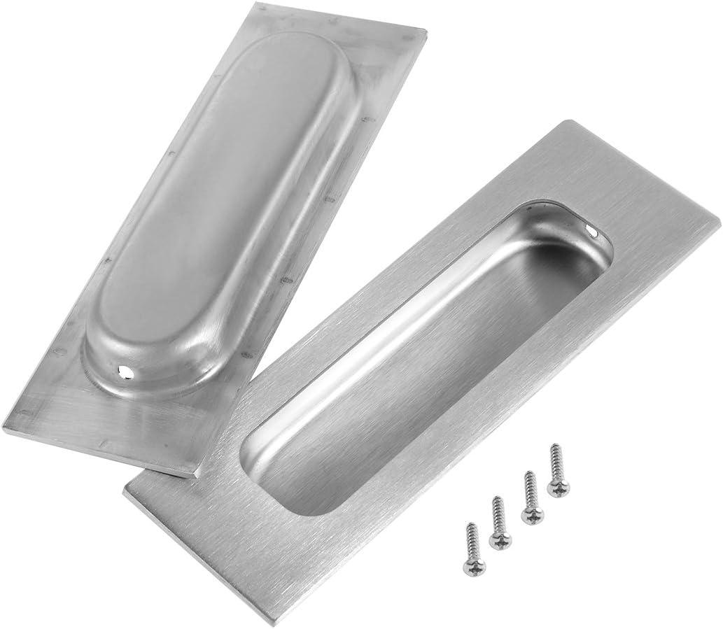 Aexit 4-3 / 4 x 1-3 / 5 Empuñadura de la puerta corrediza empotrada Empuje al ras 201 Acero (model: J4168XIII-6790KO) inoxidable 2 piezas: Amazon.es: Bricolaje y herramientas