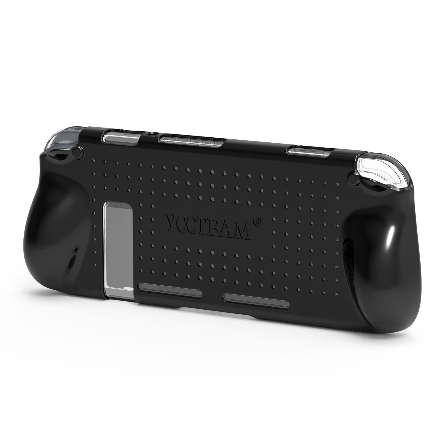 Grip Case for Nintendo Switch, Heat Dissipation Durable Silicone Protective Case Cover for Nintendo Switch Console 2017 with Comfortable Padded Hand Grips (Black)