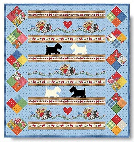 - PUPPY LOVE Quilt Kit - Moda Scottie Dog Fabric + Quilt Pattern