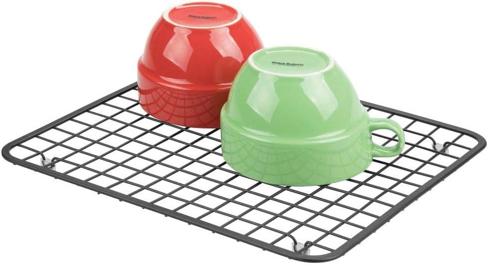 mDesign Kitchen Sink Protector Grid Matte Black Regular