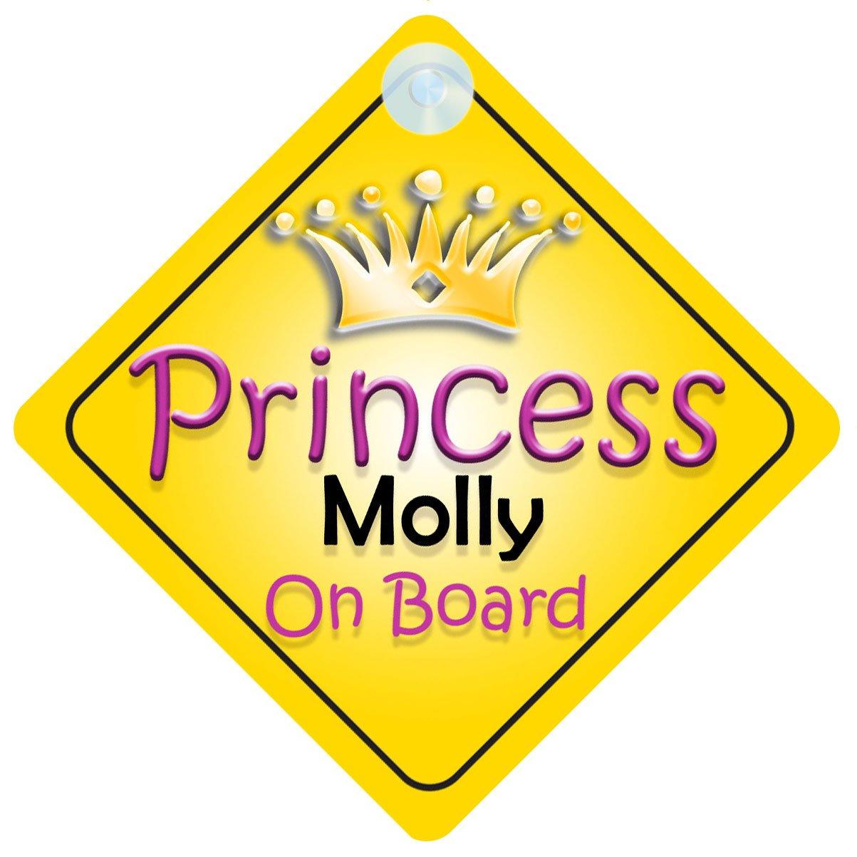 Princesse Molly on Board Panneau Voiture Fille/Enfant Cadeau Bé bé /Cadeau 002 mybabyonboard UK