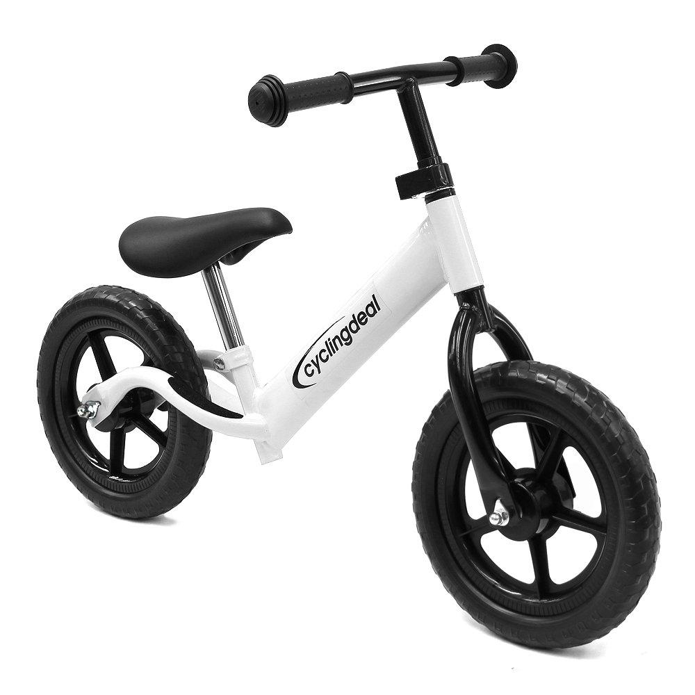 CyclingDeal Kids Child Push Balance Bike Bicyle 12'' White