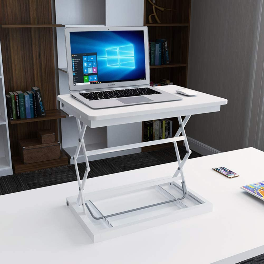 Computer Standing Desk Height Adjustable, Ergonomic Sit to Stand Converter Work Station Easy to Adjust for Home Office use-G 50x37cm(20x15inch)