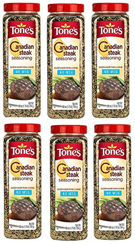 Tone's Canadian Steak Seasoning (28 ounce shaker), Pack of 6