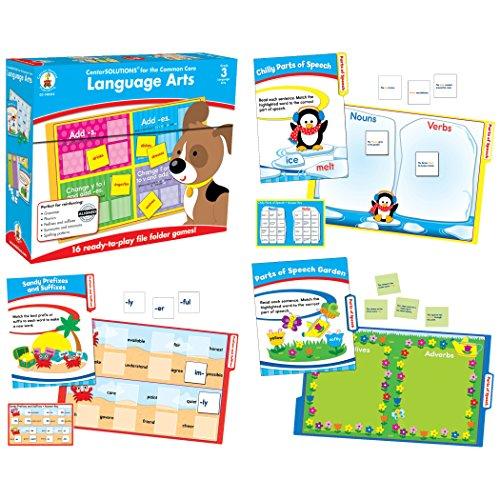 Carson-Dellosa CD-140312 Language Arts File Folder Game, Grade 3, 16 Games, 26 Sheets of Cards (Pack of 42)
